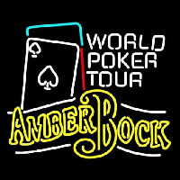 Michelob Amber Bock World Poker Tour Neon Sign