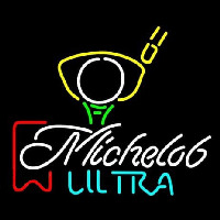 Michelob Ultra Red Ribbon PGA Golf Neon Sign