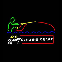 Miller Genuine Draft Fisherman Neon Sign