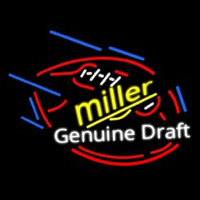 Miller Genuine Draft Foot Ball Neon Sign