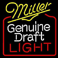 Miller Genuine Draft Golden Gate Bridge Wide Neon Sign