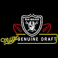 Miller Genuine Draft Oakland Raiders Beer Sign Neon Sign