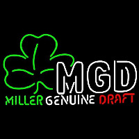 Miller Genuine Draft Shamrock Beer Sign Neon Sign