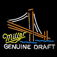 Miller Golden Gate Bridge Beer Sign Neon Sign