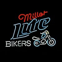 Miller Lite Bike Bikers Bicycle Logo Neon Sign