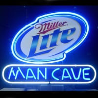 Miller Lite Man Cave Open Neon Sign
