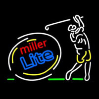 Miller Lite Sequencing Swinging Golfer Neon Sign