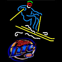 Miller Lite with Skier Neon Sign
