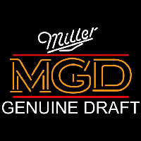 Miller Mgd Genuine Draft Beer Sign Neon Sign