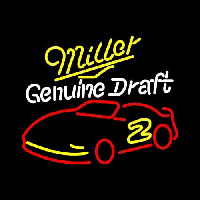 Miller NASCAR Rusty Wallace 2 Beer Sign Neon Sign