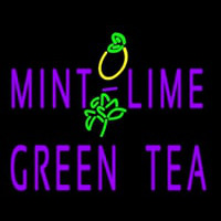 Mint Lime Green Tea Neon Sign