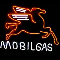 Mobil Gas & Oil Neon Sign
