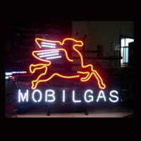 Mobilgas Oil Neon Sign