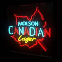 Molson Canadian Lager Beer Neon Sign