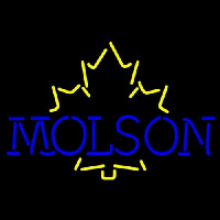 Molson Yellow Maple Leaf Neon Sign