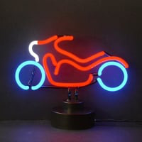 Motorcycle Desktop Neon Sign