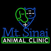 Mt Sinai Animal Clinic Logo Neon Sign