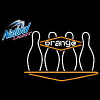 Natural Light Bowling Orange Beer Sign Neon Sign