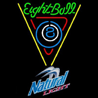Natural Light Eightball Billiards Pool Beer Sign Neon Sign