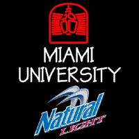 Natural Light Miami University Beer Sign Neon Sign