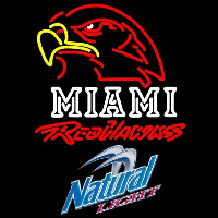 Natural Light Miami University Redhawks Beer Sign Neon Sign