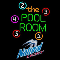 Natural Light Pool Room Billiards Beer Sign Neon Sign