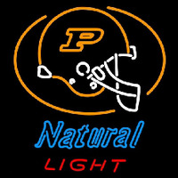 Natural Light Purdue University Boilermakers Helmet Beer Sign Neon Sign