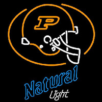 Natural Light with Purdue University Boilermakers Helmet Beer Sign Neon Sign