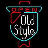 Old Style OPEN Beer Sign Neon Sign