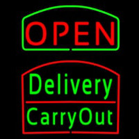 Open Delivery Carry Out Neon Sign