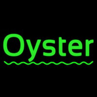 Oysters Green Line Neon Sign