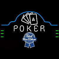 Pabst Blue Ribbon Poker Ace Cards Beer Sign Neon Sign