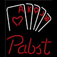 Pabst Poker Series Beer Sign Neon Sign