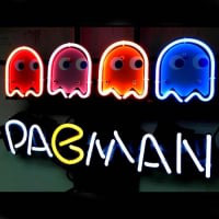 Pacman Game Neon Sign
