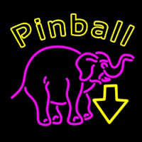 Pinball With Arrow 1 Neon Sign