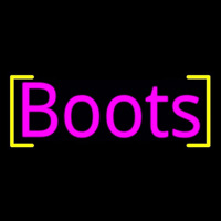 Pink Boots Neon Sign
