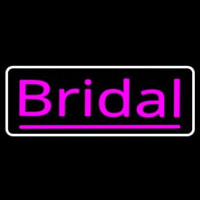 Pink Bridal With Border Neon Sign