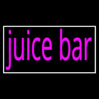 Pink Juice Bar With White Border Neon Sign