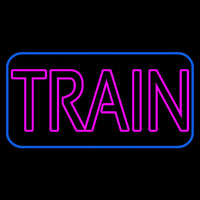 Pink Train Neon Sign