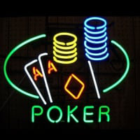 Poker Double Aces Neon Sign