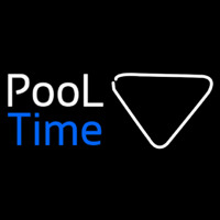 Pool Time With Billiard Neon Sign