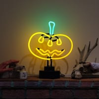 Pumpkin Desktop Neon Sign
