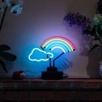 Rainbow Cloud Desktop Neon Sign