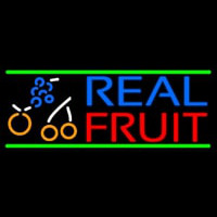 Real Fruit Smoothies Neon Sign