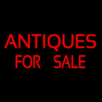 Red Antiques For Sale Neon Sign