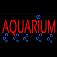 Red Aquarium Neon Sign