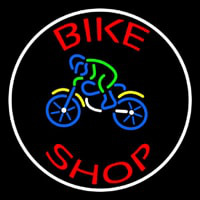Red Bike Shop With Logo Neon Sign