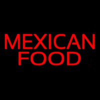 Red Bold Me ican Food Neon Sign
