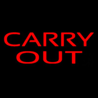 Red Carry Out Neon Sign