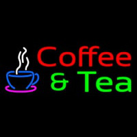 Red Coffee And Green Tea Neon Sign
